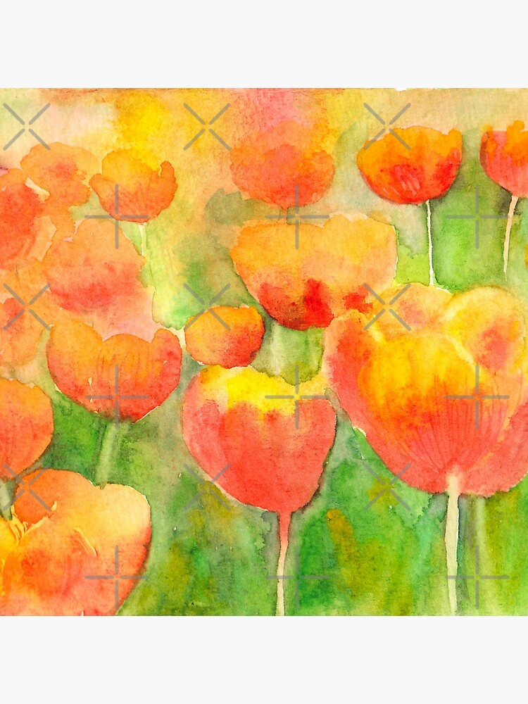 Watercolor Tulips  by whya