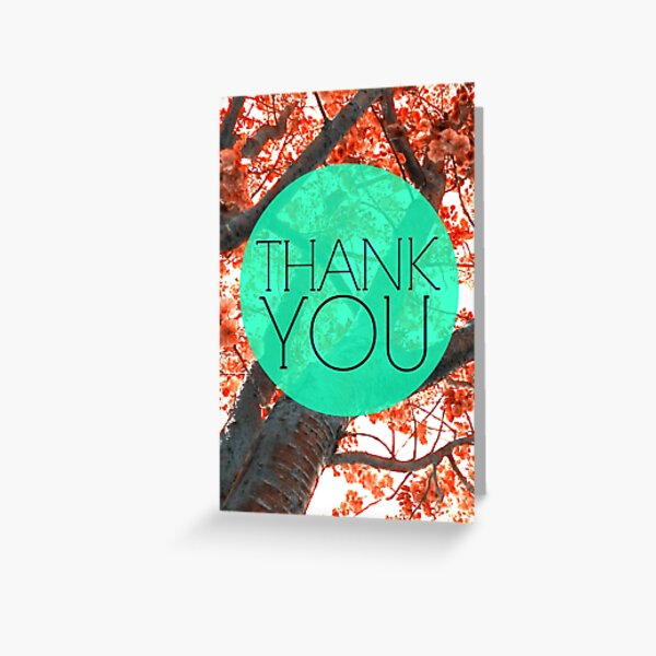 Thank You Tree Blossoms Greeting Card