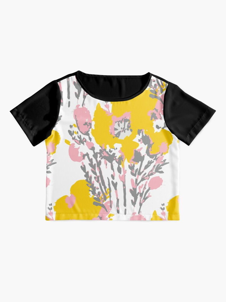Alternate view of Abstract Flowers - Yellow Pink Chiffon Top