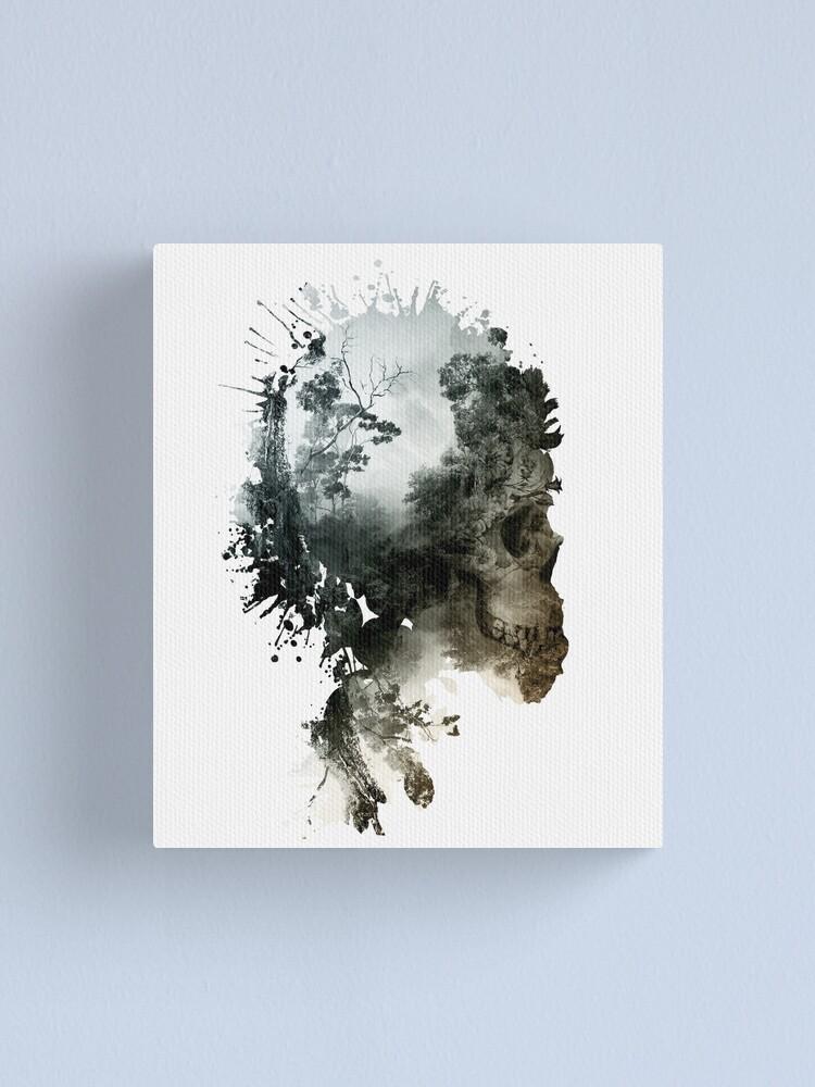Alternate view of Skull - metamorphosis Canvas Print