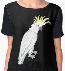 Sulphur crested cockatoo Women's Chiffon Top