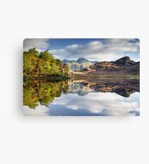 The Langdale Pikes Reflecting Canvas Print