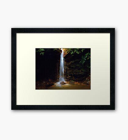 Colombian Waterfall 01  Framed Print