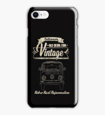 VW Camper retro rust rejuvenation iPhone Case/Skin