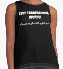 STOP TRADEMARKING WORDS - freedom for the alphabet! Contrast Tank