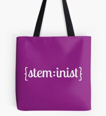 steminist (white) Tote Bag