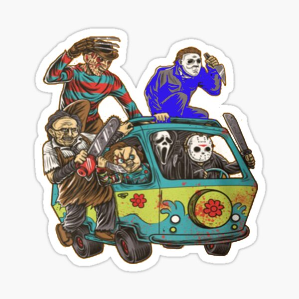 The Massacre Machine Horror Sticker