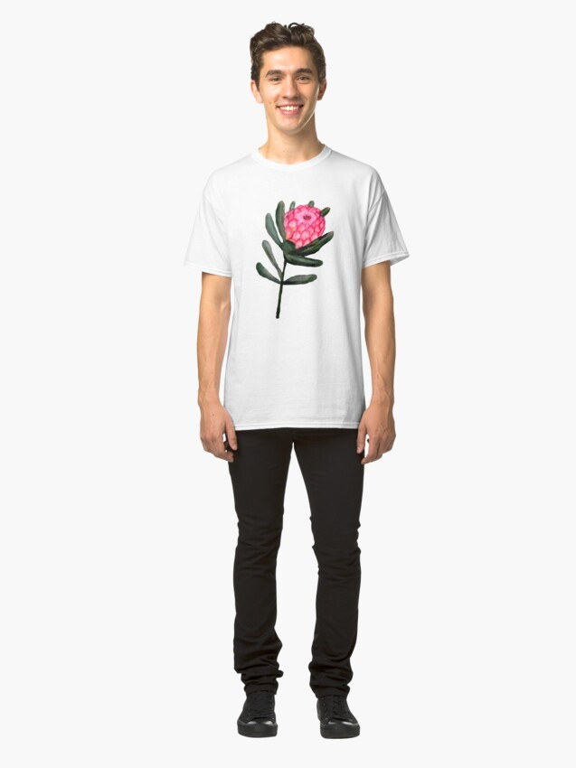 Alternate view of Protea watercolor floral Classic T-Shirt