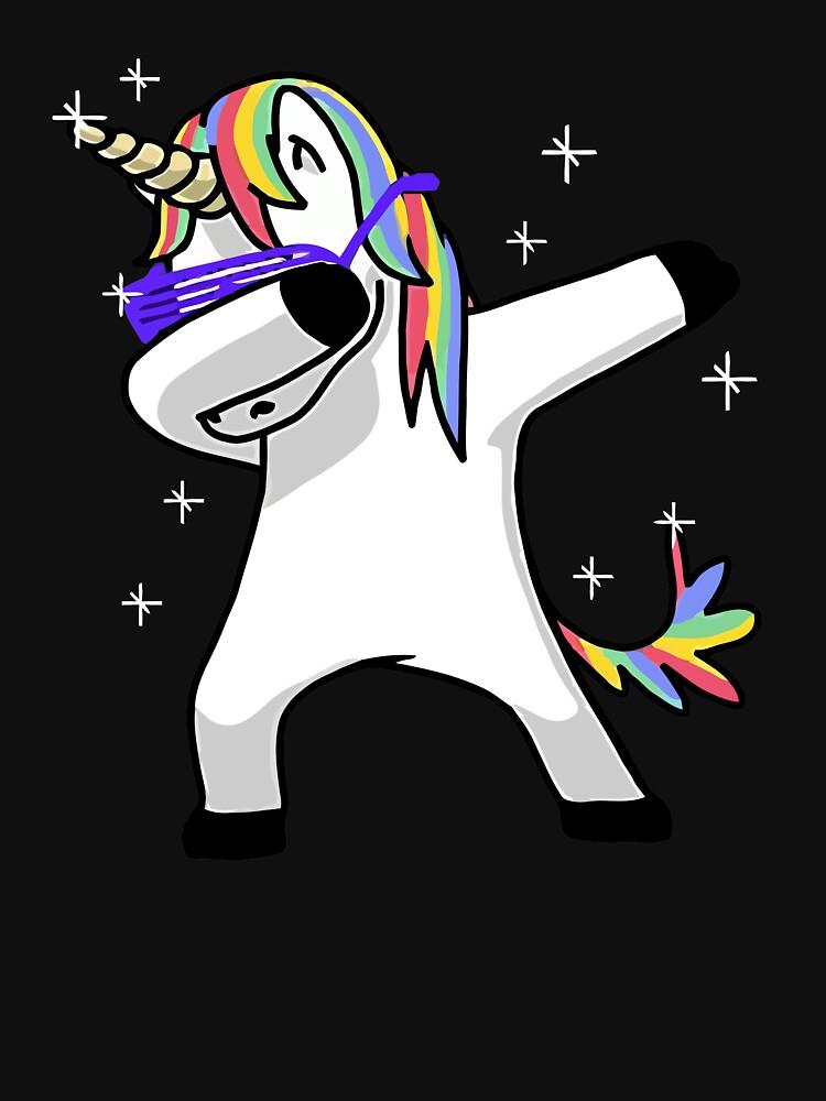 Dabbing unicorn shirt dab hip hop funny magic lightweight hoodie by matdaochimm redbubble - Unicorn dabbing pictures ...
