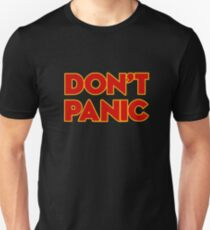 Dont Panic -  the hitchhikers Unisex T-Shirt