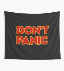Dont Panic -  the hitchhikers Wall Tapestry