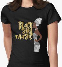 Gold Black Girl Magic Shirt African Queen Melanin Poppin T-Shirt