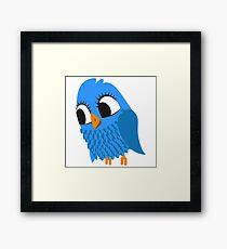 Adorable cartoon owl Framed Print