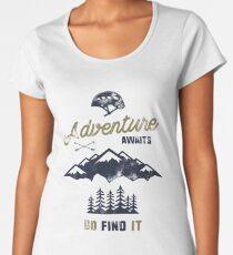Vintage Adventure Typography Label Women's Premium T-Shirt