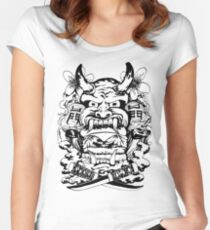 Japanese demon Women's Fitted Scoop T-Shirt