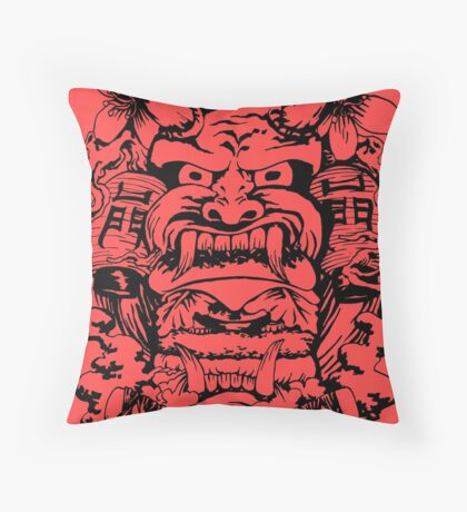 Japanese demon Throw Pillow
