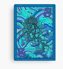 SCI - String Cheese Incident - Psychedelic Jellyfish Jelly Fish Ocean of My Brain To Much Tequila Canvas Print