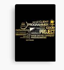 Typography Programming Canvas Print