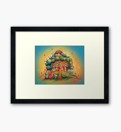 Gnome Babies Framed Print