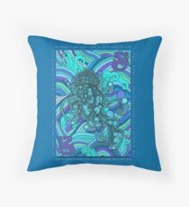 SCI - String Cheese Incident - Psychedelic Jellyfish Jelly Fish Ocean of My Brain To Much Tequila Throw Pillow