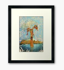tree of love owls Framed Print