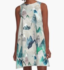 Call of the Mountains (in evergreen)  A-Line Dress