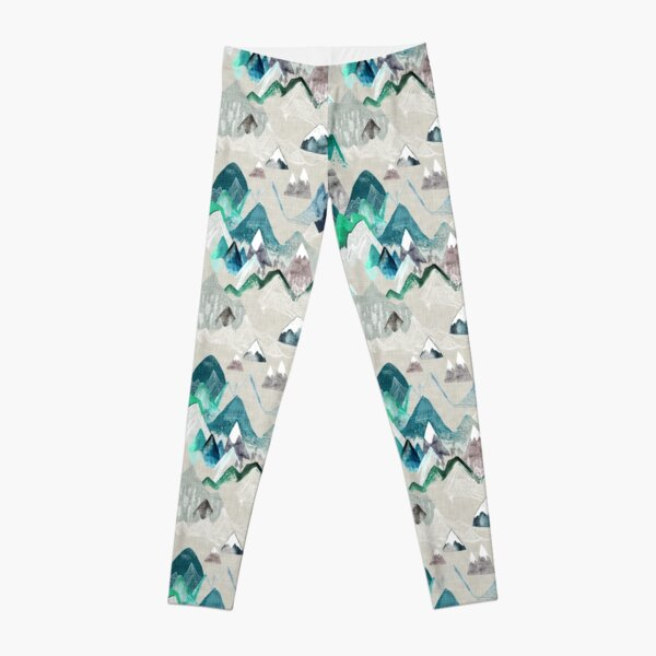 Call of the Mountains (in evergreen)  Leggings