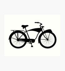 Cruiser bicycle Art Print