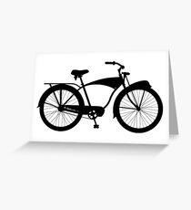 Cruiser bicycle Greeting Card