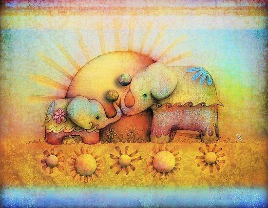rainbow elephant blessing by Karin Taylor