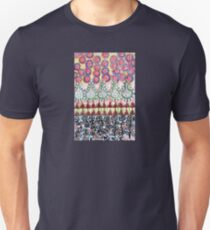 Garden with Silver Flowers and Flower Bulbs Unisex T-Shirt