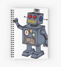 Retro Robot  Spiral Notebook