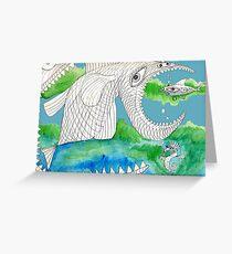 Big Fish Little Fish Greeting Card