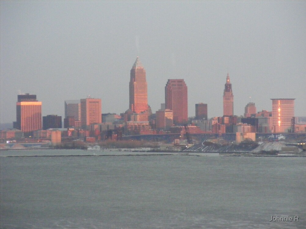 """""""Cleveland"""" Sunset in January by Johnnie R"""