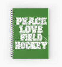 Peace Love Field Hockey Spiral Notebook