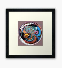 Multi-Colour Beads  Framed Print