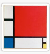 Piet Mondrian Sticker