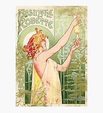 Absinthe Robette Vintage advertising French Art Nouveau design Photographic Print
