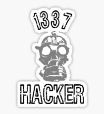 "1337 ""Elite"" Hacker  Sticker"
