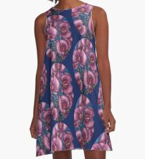 Purple moth orchid A-Line Dress
