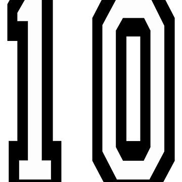 10, TEAM SPORTS NUMBER, TEN, TENTH, Competition by TOMSREDBUBBLE