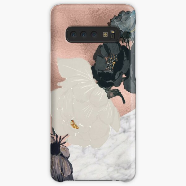 Floral marble rose gold Samsung Galaxy Snap Case