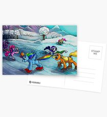 Ice skating MLP card! Postcards