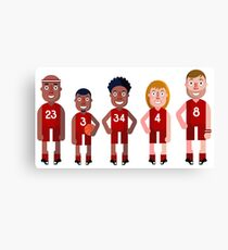 basketball Team Canvas Print