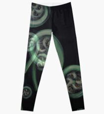 Ferns on Black – Moko Leggings