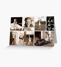Working out with Marilyn Greeting Card