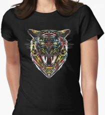 stencil tiger Womens Fitted T-Shirt