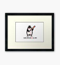 Black white red Framed Print