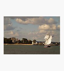 TS Royalist entering Poole Harbour Photographic Print