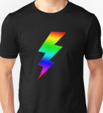 Colorfull Rainbow Lightning Bolts T-Shirt